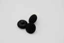 Black Fabric Covered Button 12mm
