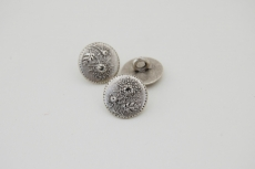 Silver Metal Button 15mm