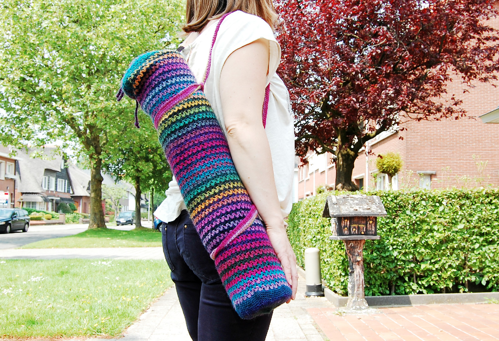 yoga bag free crochet pattern by better yarn store