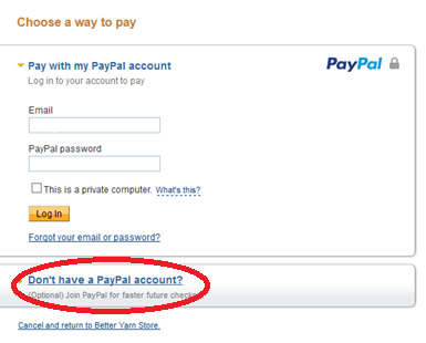 pay with credit card without paypal account